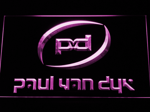 Image of Paul Van Dyk LED Neon Sign - Purple - SafeSpecial