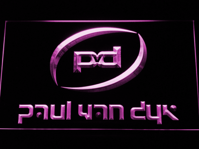 Paul Van Dyk LED Neon Sign - Purple - SafeSpecial