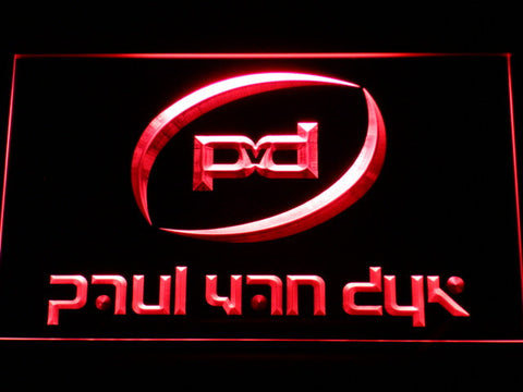 Paul Van Dyk LED Neon Sign - Red - SafeSpecial