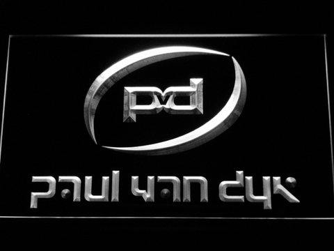 Image of Paul Van Dyk LED Neon Sign - White - SafeSpecial
