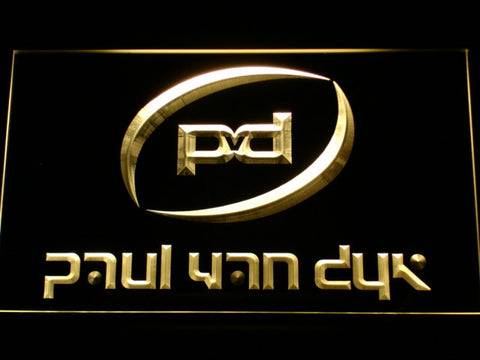 Image of Paul Van Dyk LED Neon Sign - Yellow - SafeSpecial