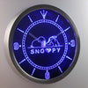 Peanuts Snoopy Heart LED Neon Wall Clock - Blue - SafeSpecial