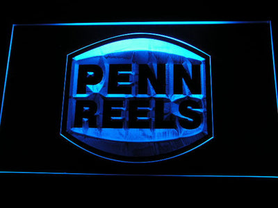 Penn Reels LED Neon Sign - Blue - SafeSpecial