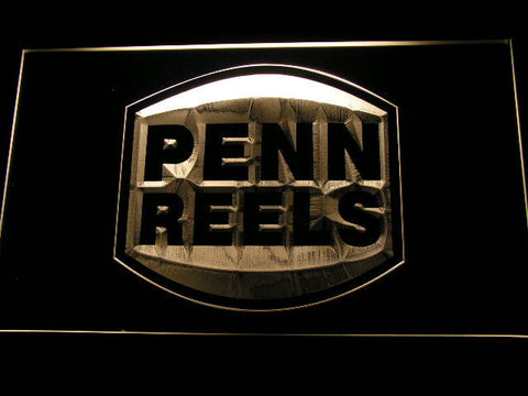 Image of Penn Reels LED Neon Sign - Yellow - SafeSpecial
