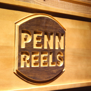 Penn Reels Wooden Sign - - SafeSpecial