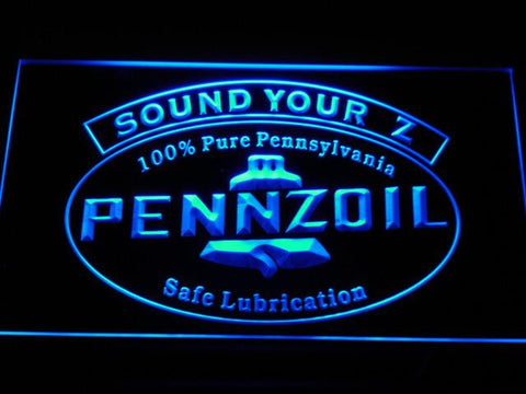 Pennzoil Sound Your Z LED Neon Sign - Blue - SafeSpecial