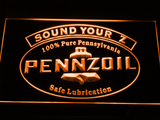 Pennzoil Sound Your Z LED Neon Sign - Orange - SafeSpecial