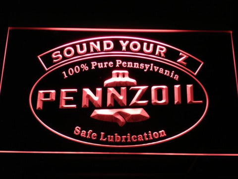 Pennzoil Sound Your Z LED Neon Sign - Red - SafeSpecial