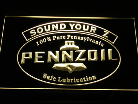 Pennzoil Sound Your Z LED Neon Sign - Yellow - SafeSpecial