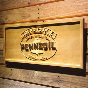 Pennzoil Sound Your Z Wooden Sign - - SafeSpecial