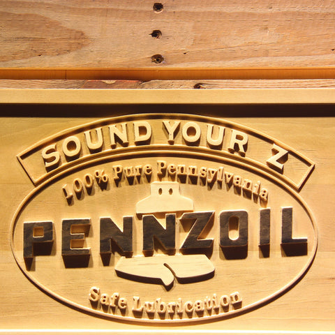 Image of Pennzoil Sound Your Z Wooden Sign - - SafeSpecial