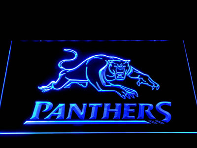 Penrith Panthers LED Neon Sign - Blue - SafeSpecial