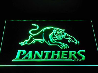 Penrith Panthers LED Neon Sign - Green - SafeSpecial