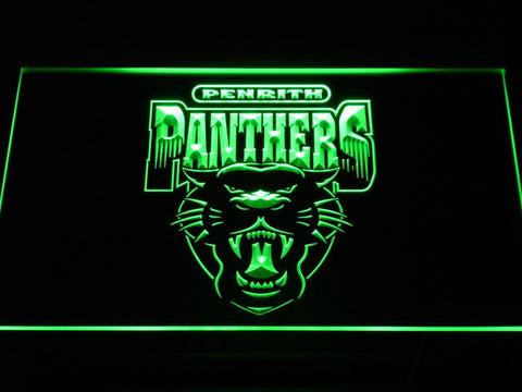 Image of Penrith Panthers LED Neon Sign - Legacy Edition - Green - SafeSpecial