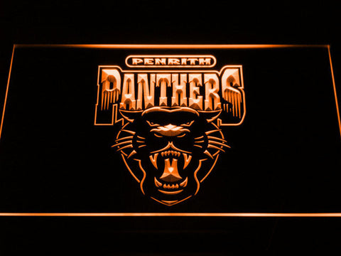 Image of Penrith Panthers LED Neon Sign - Legacy Edition - Orange - SafeSpecial