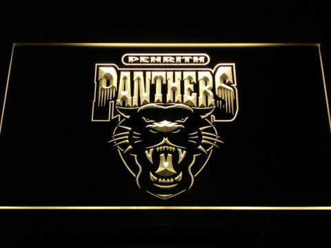 Penrith Panthers LED Neon Sign - Legacy Edition - Yellow - SafeSpecial