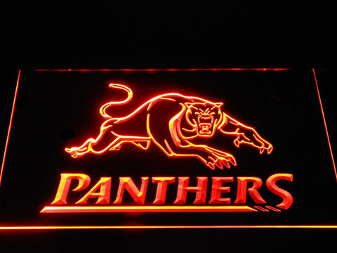 Image of Penrith Panthers LED Neon Sign - Orange - SafeSpecial