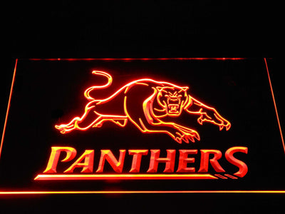 Penrith Panthers LED Neon Sign - Orange - SafeSpecial