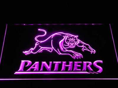 Penrith Panthers LED Neon Sign - Purple - SafeSpecial