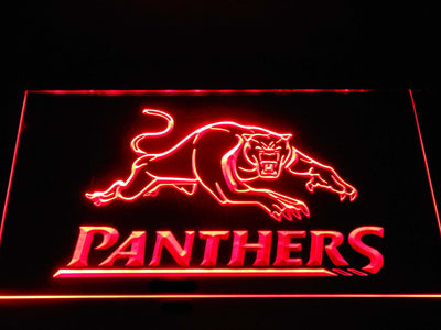 Penrith Panthers LED Neon Sign - Red - SafeSpecial