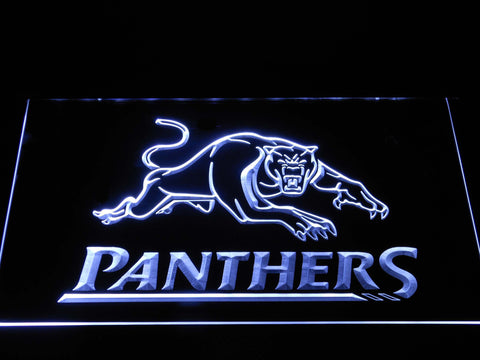 Image of Penrith Panthers LED Neon Sign - White - SafeSpecial