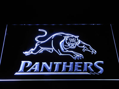 Penrith Panthers LED Neon Sign - White - SafeSpecial