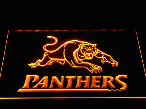 Image of Penrith Panthers LED Neon Sign - Yellow - SafeSpecial
