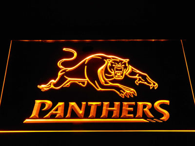 Penrith Panthers LED Neon Sign - Yellow - SafeSpecial
