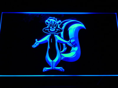 Pepe Le Pew LED Neon Sign - Blue - SafeSpecial