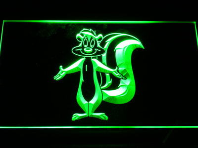 Pepe Le Pew LED Neon Sign - Green - SafeSpecial