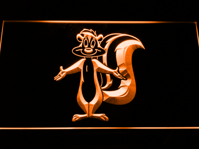 Pepe Le Pew LED Neon Sign - Orange - SafeSpecial