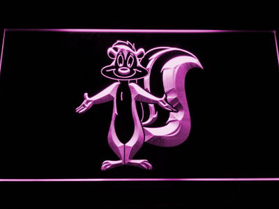 Pepe Le Pew LED Neon Sign - Purple - SafeSpecial