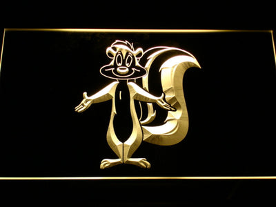 Pepe Le Pew LED Neon Sign - Yellow - SafeSpecial