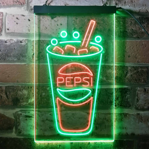 Image of Pepsi Cold Cup Neon-Like LED Sign - Dual Color