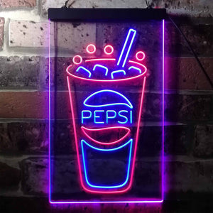 Pepsi Cold Cup Neon-Like LED Sign - Dual Color