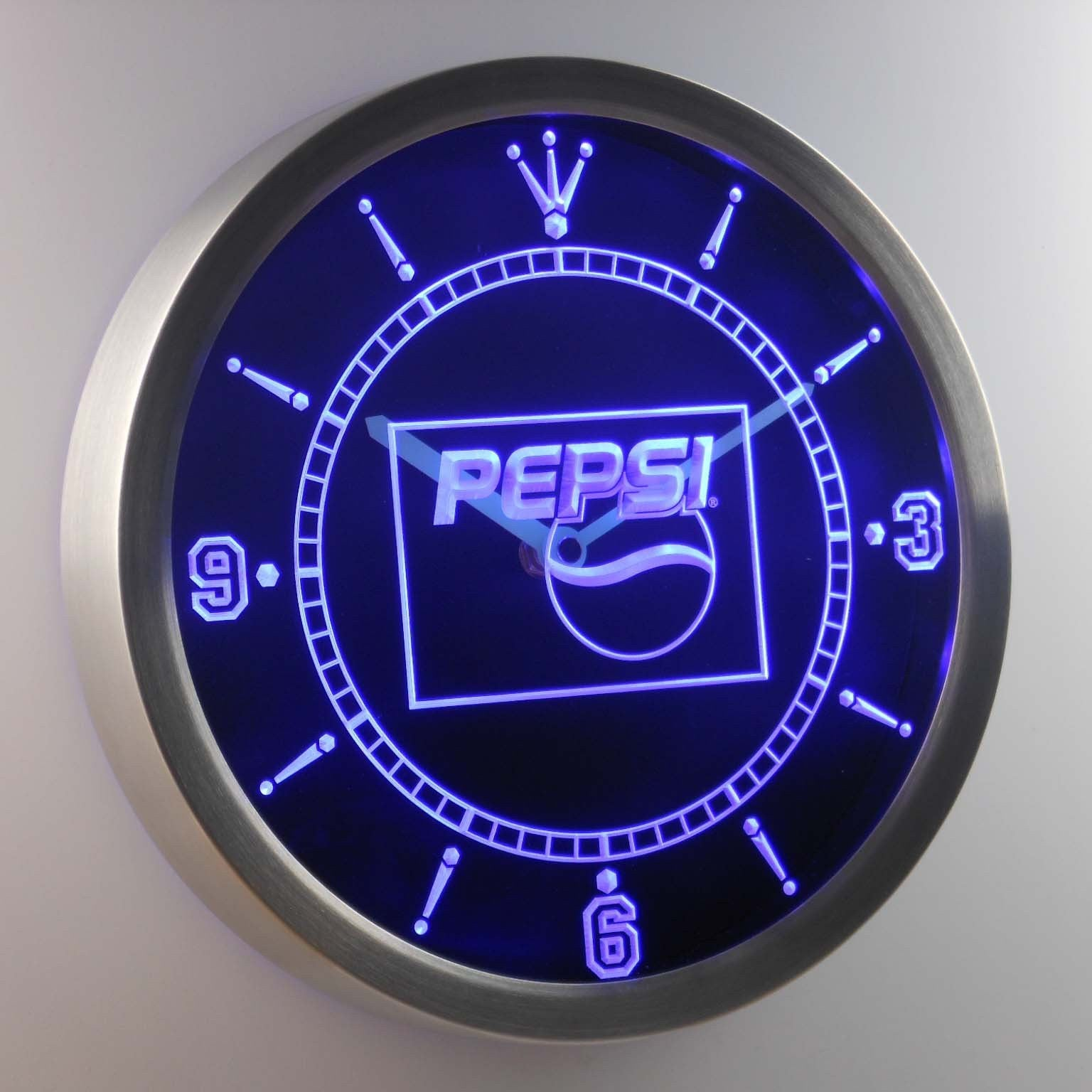 Pepsi Led Neon Wall Clock Safespecial