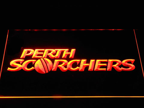 Perth Scorchers LED Neon Sign - Orange - SafeSpecial