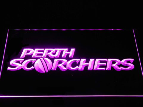 Perth Scorchers LED Neon Sign - Purple - SafeSpecial