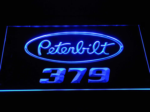 Image of Peterbilt 379 LED Neon Sign - Blue - SafeSpecial