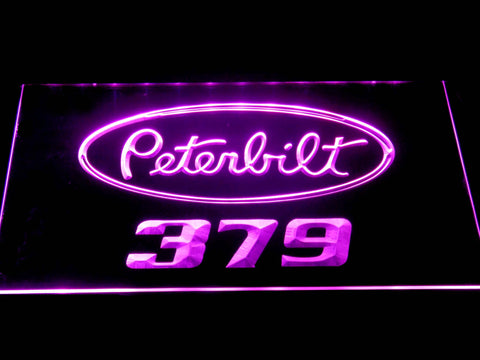 Image of Peterbilt 379 LED Neon Sign - Purple - SafeSpecial