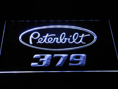 Peterbilt 379 LED Neon Sign - White - SafeSpecial