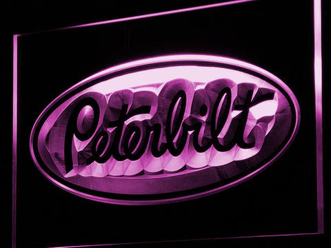 Image of Peterbilt LED Neon Sign - Purple - SafeSpecial