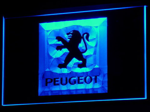Image of Peugeot LED Neon Sign - Blue - SafeSpecial