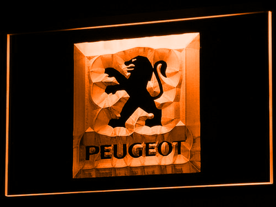 Peugeot LED Neon Sign - Orange - SafeSpecial