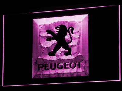Peugeot LED Neon Sign - Purple - SafeSpecial