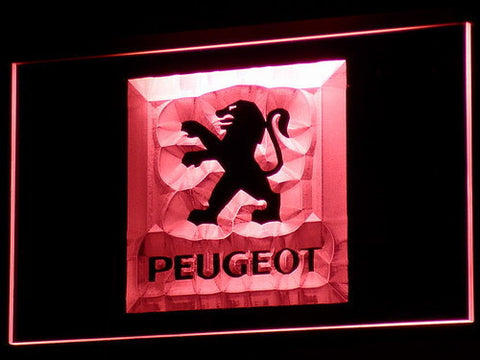 Image of Peugeot LED Neon Sign - Red - SafeSpecial