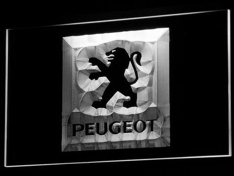 Image of Peugeot LED Neon Sign - White - SafeSpecial