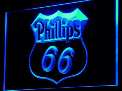 Phillips 66 Gasoline LED Neon Sign - Blue - SafeSpecial