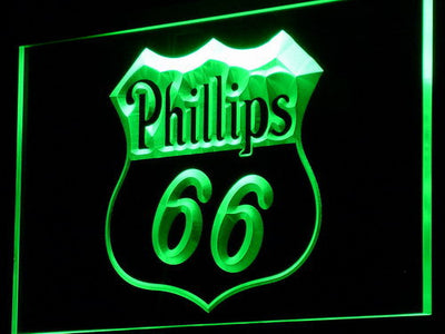 Phillips 66 Gasoline LED Neon Sign - Green - SafeSpecial