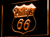 Phillips 66 Gasoline LED Neon Sign - Orange - SafeSpecial